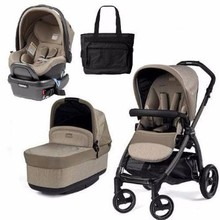 Buy 2 get 1 free New Peg Perego - Book Pop Up Travel System - Portraits Grey