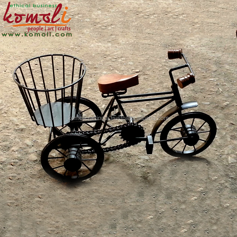 Bicycle miniature and decorative wrought iron bicycle home - Wrought iron bicycle wall art ...