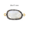 Wholesale Price Charms 925 Sterling Silver Rainbow Moonstone Connector Manufacture & Supply 14 k Gold Connector with gemstone