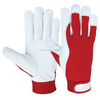 Assembly Gloves Goat Skin Grain Leather interlock Fabric