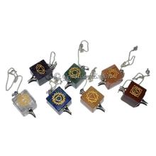 Green Aventruine 12 Faceted Chakra Chain Om : Aventruine Pendulums
