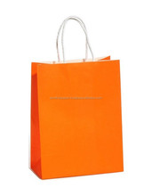 Kraft paper Bag with twisted handle (TH232-150003 Orange)