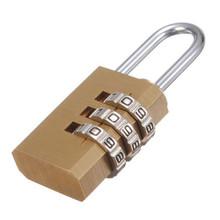 3 Dial Metal Resettable Combination Padlock Suitcase Luggage Password Digit Lock