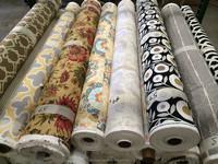 Curtain Fabric Stocklot Printed Drapery