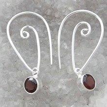 Garnet Oval Stone Marked 925 Earrings Dangle Earrings Woman Jewelry For Her SJE5304