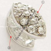 more colors for choice with Rhinestone Zinc Alloy Pinch Bail