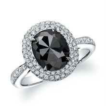 Natural Black Diamond Ring In All Sizes and Custom Desingns