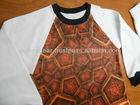 Sublimação impresso raglan t - camisa
