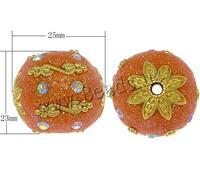 25x23mm reddish orange with Zinc Alloy Indonesia Beads