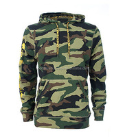 2015 wholesale camo lightweight 100% cotton fleece army hoodies with custom printing