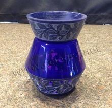 Bella pietra ollare naturale& vetro intagliato a mano aroma bruciatore a gasolio