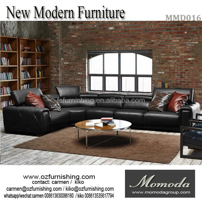 2017 nuevo diseño de alta calidad sofá de cuero/moda simple ...