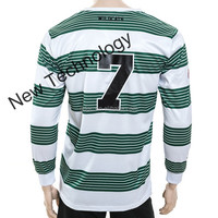 Healong heat transfer imprinting manufacturer digital sublimation Soccer Jersey Red And Yellow cut and sew