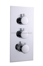 Thermostatic Round Shower Mixer Valve - 3 dial 2 way diverter - 6201(3-2)