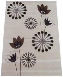 Flower design hand tufted cut pile wool rugs