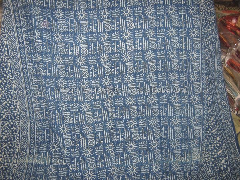 Handmade Indigo Blue Kantha Quilts Throws Rugs Bedspreads