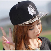 New Promotion 1 PC Leopard Pattern Snapback Caps Cotton Unisex Adjustable Basketball Hip Pop Baseball Snackback Hats