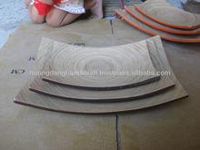 Decorazione di bambù piatti e piastra, eco- Amichevole piatti per la decorazione domestica, tavolo arredamento piatto