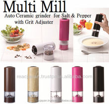 Spice grinding mill for pepper and salt with electric button need AA batteries