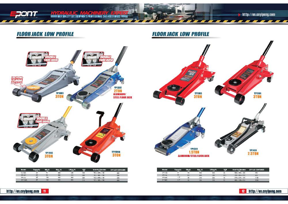 Aprovado Pela CE Hidráulica Floor Jack/Low Profile Bomba Dupla Floor Jack 3 ton