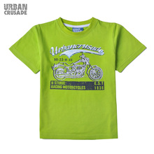 Racing Motorcycle Cool Boys Kintted Cotton Casual High Quality T-Shirt with Classical O-Neck