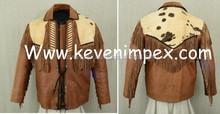 Estilo occidental chaquetas, caballo chaqueta de montar, cuero genuino de la chaqueta