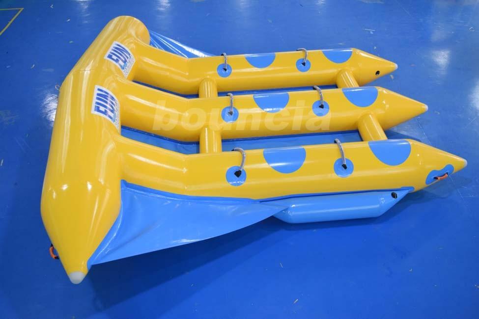 pvc b che gonflable flying fish tube tractable gonflable jeux d 39 eau flyfish bateau banane pour. Black Bedroom Furniture Sets. Home Design Ideas