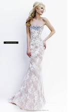 2015 New Arrival High Fashion Sexy Couture Intricate Beaded Handmade Mermaid Long One Piece Party Ball Gown Prom Evening Dress