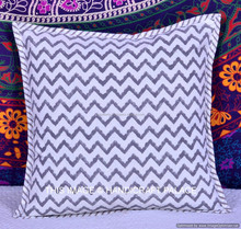"""16""""X16"""" Indian Abstract Pattern Canvas Fabric Handmade Cushion Cover Throw Pillow Cover Decorative Pillow Case For Home Decor"""
