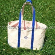 Promotional Tote Bag /Cotton bag / OEM production canvas tote bag/ Large Heavy Cotton Boat Tote with Zipper