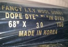 Korea black formal wool peach wool dobby black crystal fabric black romantic fabric black nida fabric in Korea