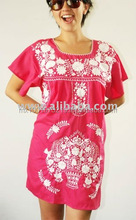 Embroidery dress handmade embroidered. Mexican craft