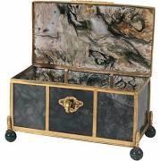 Agate Jewel Casket With Bronze Dore Mounts