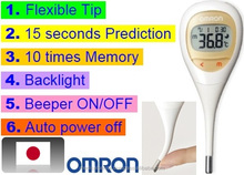 Speedy prediction digital thermometer with multiple functions, made in Japan
