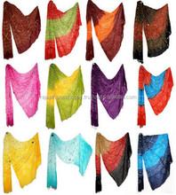 Navratri Bandhani Dupatta Indian Cotton Fine Stole Antique Designer Fashion Scarf Bandhej Stole