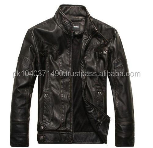 Feel Pu Leather Jacket/faux Jacket - Buy Brown Leather Bomber Jacket