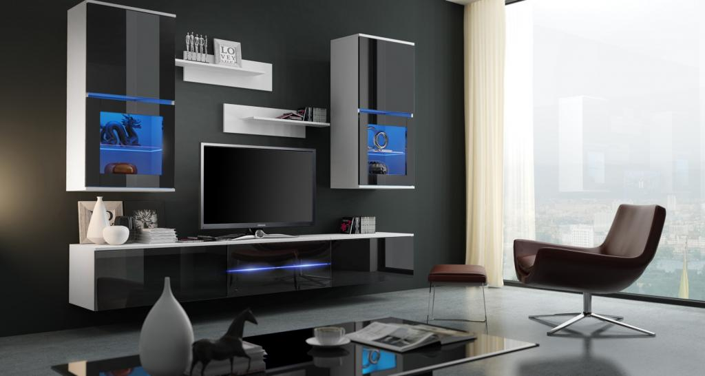 Beau Modern Living Room TV Wall Unit. BILBAO. Meble Bilbao Miniaturka 48h