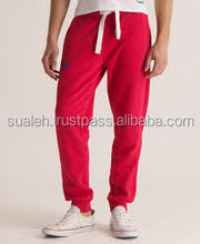 red joggers, terry fleece joggers