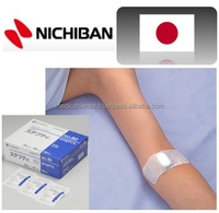 Sterilized and individual packed elastic adhesive bandage with layered pad for medical device agent, NICHIBAN, made in Japan