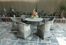 High Quality Wicker Poly Rattan Furniture Dining Set