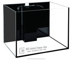 SC Aquariums 50 gallon Fish Tank with starfire Glass