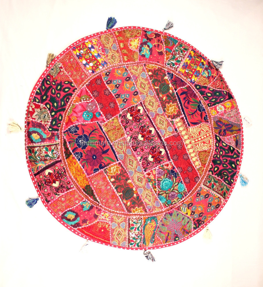 Round Floor Cushion Cover Indian Patchwork Sari Cushion  : Round Floor cushion cover Indian Patchwork Sari from www.alibaba.com size 915 x 1000 jpeg 396kB