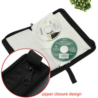 High Quality 80 x CD DVD Sleeve Storage Wallet Holder Zip Carry Case Cover Box Discs Protect