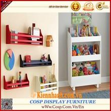 Wall/ Free standing woodden toy storage shelf/kindergarten furniture with A shape