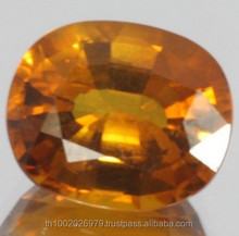 Whisky Color Beautiful Natural Yellow Sapphire 5.65 ct. Gemstone original from Thailand