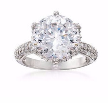 CZ Ring in Sterling Silver/Hot sale fashion 925 sterling silver ring diamond ring jewelry