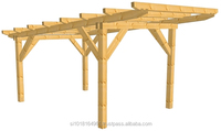 One car wooden carport (spruce or glulam)