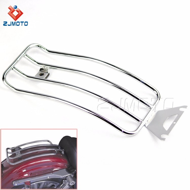 For HARLEY TOURING ROAD KING BAGGER High Quality ALLOY Motorcycle Luggage Rack Chrome Cargo Travel Rack (3).jpg