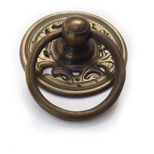 "Brass Ring tiradores-golden ronda filigrana placa 3-1 / 4 """