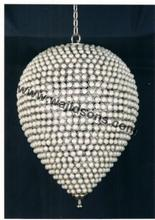 Modern fancy design light with hanging crystal ball for decoration